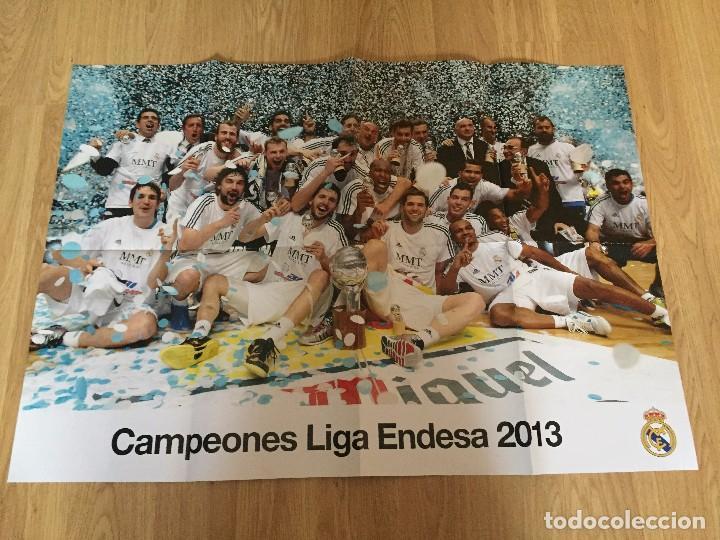 Coleccionismo deportivo: POSTERS REAL MADRID BALONCESTO CAMPEONES - Foto 7 - 194531687