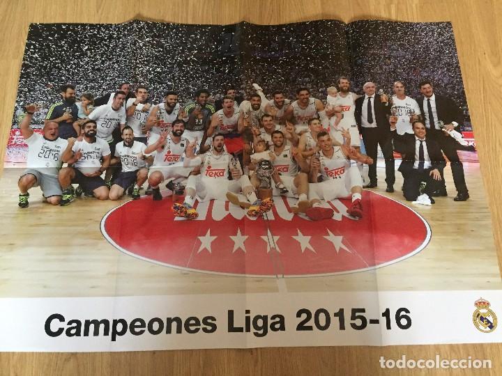 Coleccionismo deportivo: POSTERS REAL MADRID BALONCESTO CAMPEONES - Foto 8 - 194531687
