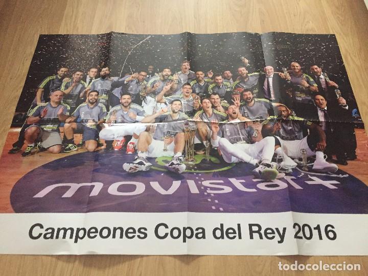 Coleccionismo deportivo: POSTERS REAL MADRID BALONCESTO CAMPEONES - Foto 9 - 194531687