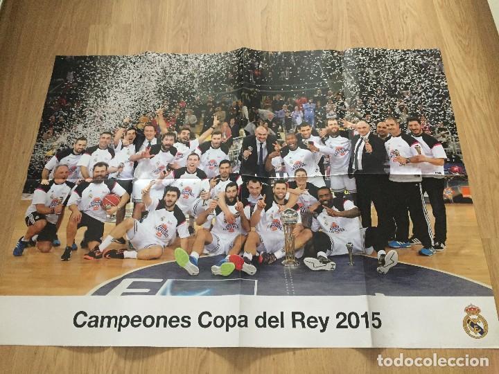 Coleccionismo deportivo: POSTERS REAL MADRID BALONCESTO CAMPEONES - Foto 13 - 194531687