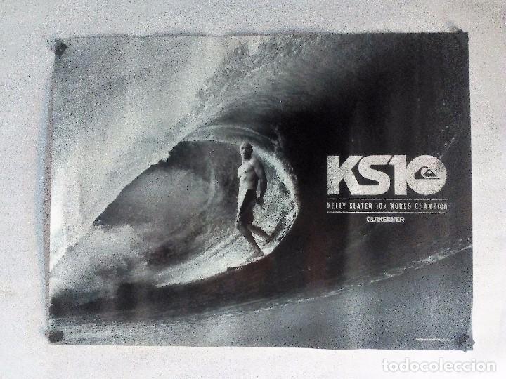 KELLY SLATER 10X WORLD CHAMPION ORIGINAL POSTER 58X44 CMS QUIKSILVER (Coleccionismo Deportivo - Carteles otros Deportes)