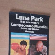 Coleccionismo deportivo: CARTEL BOXEO. CAMPEONATO MUNDIAL DEL PESO MEDIANO. CARLOS MONZÓN-BENNIE BRISCOE.. Lote 213209186