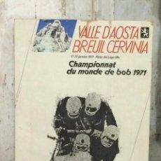 Coleccionismo deportivo: CARTEL CAMPEONATO DEL MUNDO DE BOB 1971,. Lote 101315359