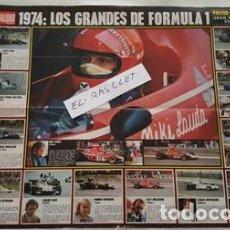 Coleccionismo deportivo: ANTIGUO POSTER DEL 1974 - LOS GRANDES DE LA FORMULA I - GRAN PREMIO DE ESPAÑA -. Lote 102288607