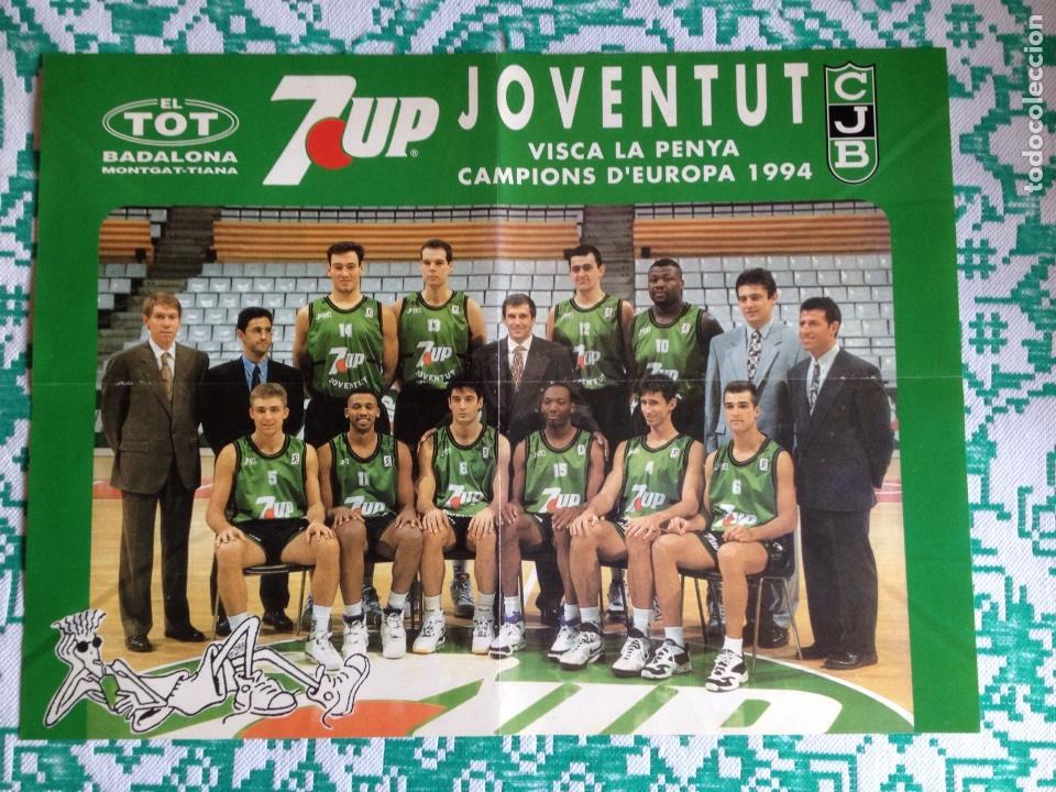 JOVENTUT JUVENTUD DE BADALONA PÓSTER CAMPEONES DE EUROPA 1994 (Coleccionismo Deportivo - Carteles otros Deportes)