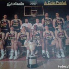 Coleccionismo deportivo: POSTER EQUIPO BALONCESTO ESTUDIANTES 1992. CAMPEON COPA DEL REY. Lote 102674391