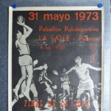 Coleccionismo deportivo: LA SALLE PATERNA (VALENCIA) -BALONCESTO FINAL DE LA COPA S. E. EL GENERALISIMO - AÑO 1973 - SOBERANO. Lote 102887111