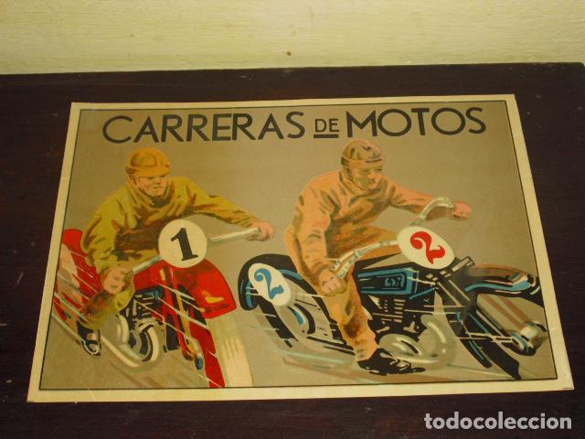CARTEL- CARRERAS DE MOTOS - ORIGINAL AÑOS 30- 40 - (Coleccionismo Deportivo - Carteles otros Deportes)