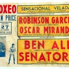 Coleccionismo deportivo: BOXEO CARTEL ORIGINAL 50X70 CM. VELADA GRAN PRICE 27/10/1966 . FATIGADO VER FOTOS. Lote 103846211