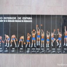 Coleccionismo deportivo: POSTER CARTEL SELECCIÓN NACIONAL DE BALONCESTO BANCO EXTERIOR ESPAÑA, EPI, ROMAY, CORBALÁN..... Lote 104069363