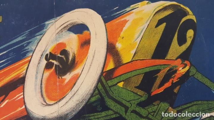 Coleccionismo deportivo: CARTEL ORIGINAL AUTODRÓMO NACIONAL. SÍTGES. BARCELONA. JOSÉ SEGRELLES. 1923. - Foto 4 - 104859207