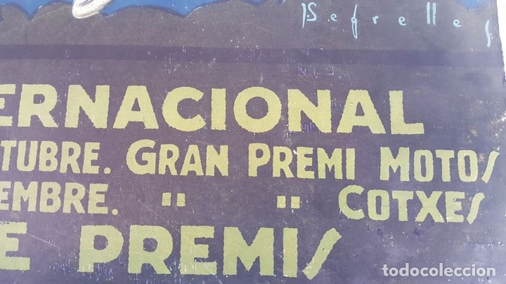 Coleccionismo deportivo: CARTEL ORIGINAL AUTODRÓMO NACIONAL. SÍTGES. BARCELONA. JOSÉ SEGRELLES. 1923. - Foto 7 - 104859207