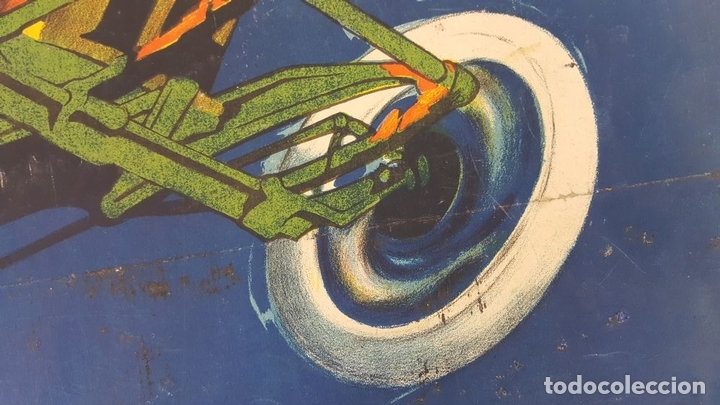 Coleccionismo deportivo: CARTEL ORIGINAL AUTODRÓMO NACIONAL. SÍTGES. BARCELONA. JOSÉ SEGRELLES. 1923. - Foto 12 - 104859207