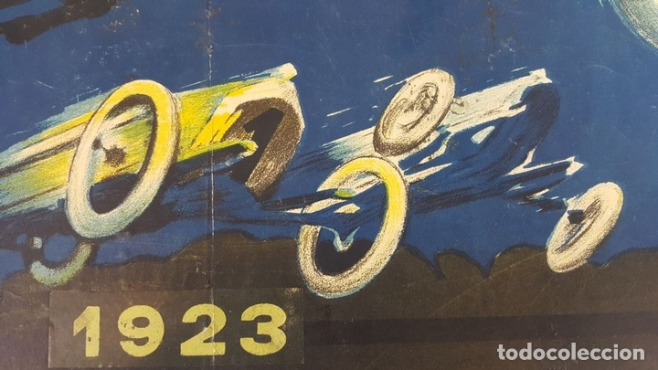 Coleccionismo deportivo: CARTEL ORIGINAL AUTODRÓMO NACIONAL. SÍTGES. BARCELONA. JOSÉ SEGRELLES. 1923. - Foto 14 - 104859207