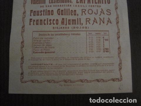 Coleccionismo deportivo: FRONTON - FRONTON ZARAGOZANO- BARRIO MONTEMOLIN - FRENTE MATADERO- AÑO 1912- VER FOTOS- (V-12.822) - Foto 3 - 104883279