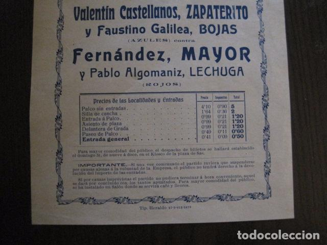Coleccionismo deportivo: FRONTON - FRONTON ZARAGOZANO- BARRIO MONTEMOLIN - FRENTE MATADERO- AÑO 1912- VER FOTOS- (V-12.821) - Foto 3 - 104883623