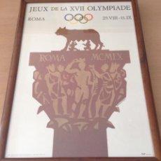 Coleccionismo deportivo: CARTEL XVII JUEGOS OLÍMPICOS ROMA 1960 AUTOR ARMANDO TESTA. Lote 105655459