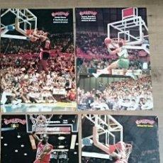 Coleccionismo deportivo: LOTE 4 POSTER NBA MATES MICHAEL JORDAN KERSEY STANSBURY GIGANTES DEL BASKET AÑOS 80. Lote 121973152