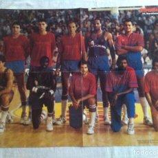 Coleccionismo deportivo: POSTER BARCELONA 1987 BALONCESTO. Lote 106956431