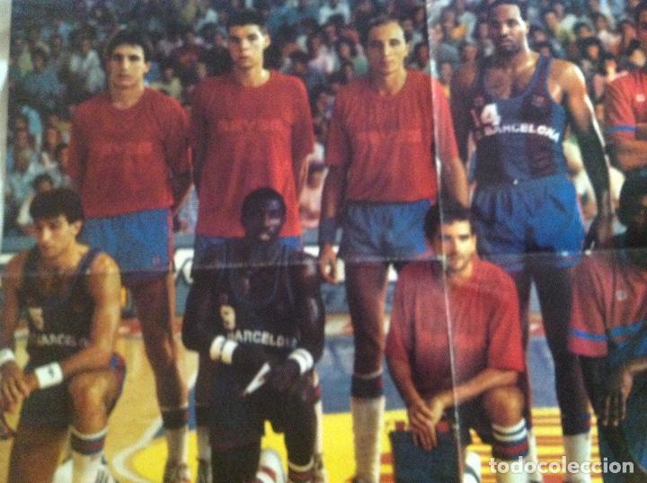 Coleccionismo deportivo: POSTER BARCELONA 1987 BALONCESTO - Foto 2 - 106956431