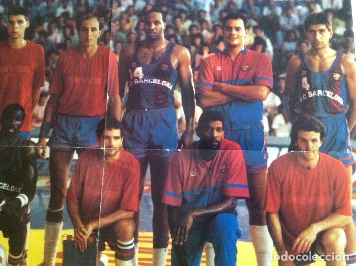 Coleccionismo deportivo: POSTER BARCELONA 1987 BALONCESTO - Foto 3 - 106956431