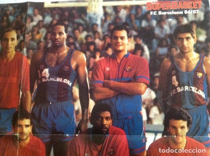 Coleccionismo deportivo: POSTER BARCELONA 1987 BALONCESTO - Foto 4 - 106956431