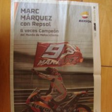 Coleccionismo deportivo: POSTER MARC MARQUEZ 6 VECES CAMPEON DEL MUNDO. Lote 107426587