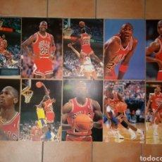 Coleccionismo deportivo: LOTE DE 10 PÓSTERS DE MICHAEL JORDAN TAMAÑO A3. Lote 107432287