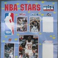 Coleccionismo deportivo: LOTE DE OCHO PÓSTERS DESPLEGABLES NBA. Lote 108284795