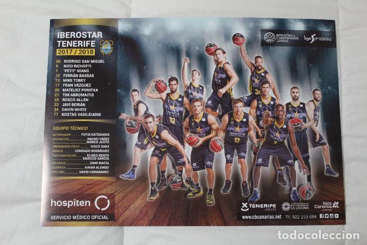 PÓSTER IBEROSTAR TENERIFE CLUB BALONCESTO CANARIAS. TEMPORADA 2017- 2 (Coleccionismo Deportivo - Carteles otros Deportes)