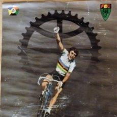 Coleccionismo deportivo: CARTEL DE LOS CAMPEONATOS MUNDIALES DE CICLISMO, BARCELONA, 1984, 47X67 CMS. Lote 108780079