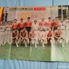 Coleccionismo deportivo: POSTER SELECCION ESPAÑOLA DE BALONCESTO, LOS ANGELES 84. (ESTRELLAS EN LOS ANGELES) 1984. Lote 109212231