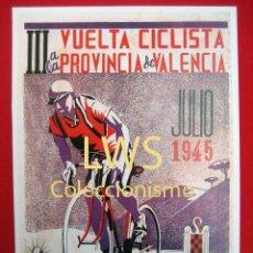 Coleccionismo deportivo: III VUELTA CICLISTA A LA PROVINCIA DE VALENCIA - PUBLICIDAD IMÁGENES - CICLISMO - BICICLETAS S-3. Lote 110544195