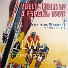 Coleccionismo deportivo: VUELTA CICLISTA A ESPAÑA 1956 - PREMIO MOBYLETTE - PUBLICIDAD IMÁGENES - CICLISMO - BICICLETAS S-3 . Lote 110578251