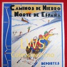 Coleccionismo deportivo: CAMINOS DE HIERRO DEL NORTE DE ESPAÑA LA MOLINA GIRONA PUBLICIDAD IMÁGENES DEPORTES ESQUÍ S-3. Lote 211414220