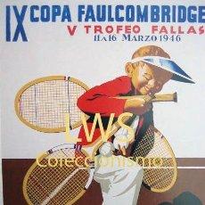 Coleccionismo deportivo: IX COPA FAULCONBRIDGE - VALENCIA CLUB DE TENÍS - PUBLICIDAD IMÁGENES - DEPORTES - TENIS S-3. Lote 110580143