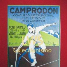 Colecionismo desportivo: CAMPRODÓN CONCURSO INTERNACIONAL DE TENIS - COPA PIRINEOS PUBLICIDAD IMÁGENES - DEPORTES - TENIS S-3. Lote 275937328