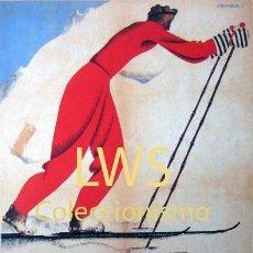 Coleccionismo deportivo: CAMPIONAT DE CATALUNYA D. ESQUÍ FONS LA MOLINA 1933 GIRONA PUBLICIDAD IMÁGENES DEPORTES ESQUÍ S-5. Lote 148950037