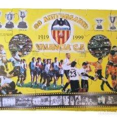 Coleccionismo deportivo: PUZZLE GIGANTE DEL VALENCIA CF 80 ANIVERSARIO SUPER DEPORTE 1999 PUZLE. Lote 115016415