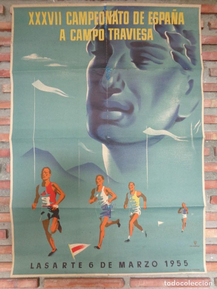 XXXVII CAMPEONATO DE ESPAÑA A CAMPO TRAVIESA .LASARTE.C.-80 (Coleccionismo Deportivo - Carteles otros Deportes)