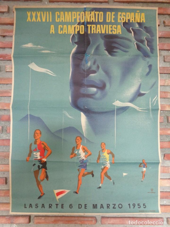 Coleccionismo deportivo: XXXVII CAMPEONATO DE ESPAÑA A CAMPO TRAVIESA .LASARTE.C.-80 - Foto 2 - 115367899