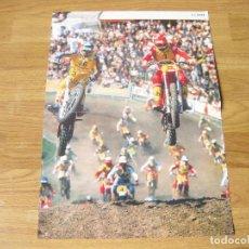 Coleccionismo deportivo: CARTEL PUBLICITARIO DE UNA CARRERA DE MOTOCROSS - BEIERSDORF BDF - AÑOS 80. Lote 115460515