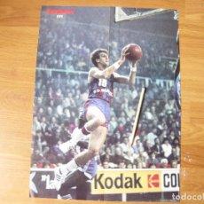 Coleccionismo deportivo: CARTEL DE BALONCESTO DE LA REVISTA SUPERBASKET Y EL JUGADOR EPI. Lote 115461875