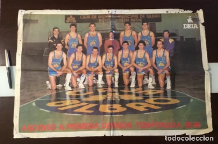 PÓSTER CAJA BILBAO 1985 ASCENSO A PRIMERA DIVISION (Coleccionismo Deportivo - Carteles otros Deportes)