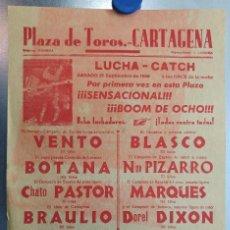 Coleccionismo deportivo: CARTEL LUCHA-CATCH - CARTAGENA, MURCIA - 21 DE SEPTIEMBRE DE 1968. Lote 119949191