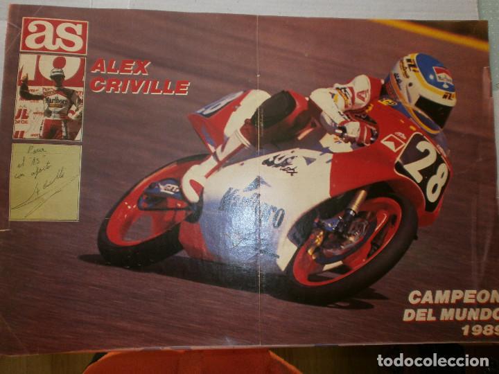 POSTER ALEX CRIVILLE CAMPEÓN DEL MUNDO 1989 AS (Coleccionismo Deportivo - Carteles otros Deportes)