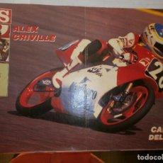Coleccionismo deportivo: POSTER ALEX CRIVILLE CAMPEÓN DEL MUNDO 1989 AS. Lote 120026095