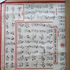 Coleccionismo deportivo: ANTIGUO PÓSTER JUDO KODOKAN GOKYO DAI NIPPON. ARTES MARCIALES. AÑOS 60-70.. Lote 122140454