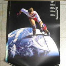 Coleccionismo deportivo: HOCKEY CARTEL OLIMPIADAS BARCELONA 92. MED. 70 X 50 CM. Lote 122324979