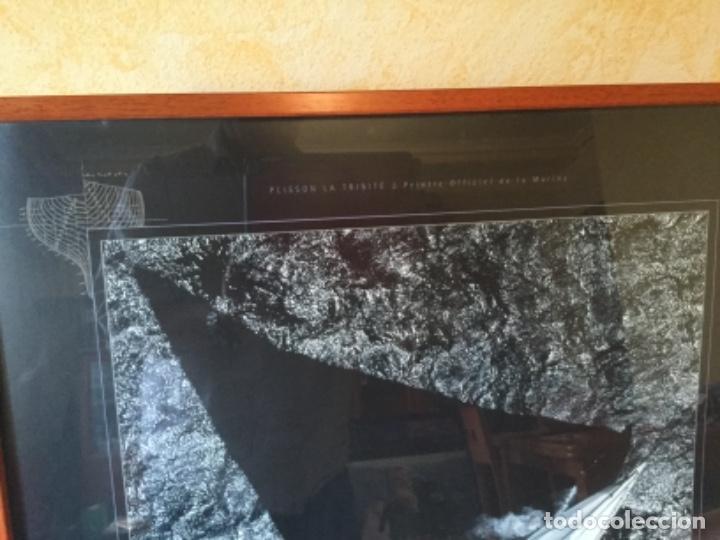 Coleccionismo deportivo: Cartel Velero Regata Australia II 1985. Plisson La Trinete. Peinaré Officiel de la Marine - Foto 5 - 123744727